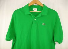 Lacoste Mens Short Sleeve Polo Style Green Shirt Size EU7 USA XXL