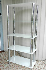 Odyssey 5 Tier Shelf Unit White Glass/Chrome - in retail packaging Cat No: 35282