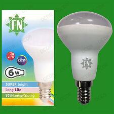 2x 6W R50 Reflector Spot Light LED E14 SES Daylight White 6500K Light Bulb Lamp