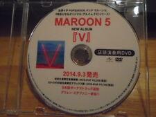 Rare Promo Japan Maroon 5 Dvd single Maps video + V press info Adam Levine Voice