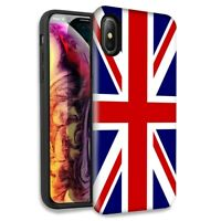England British Flag Double Layer Hybrid Case Cover For Apple iPhone XR