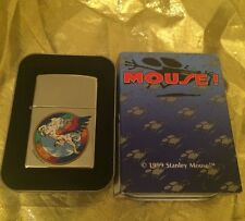 1999 Stanley Mouse Pegasus Zippo Windproof Lighter Chrome Finish New in Box