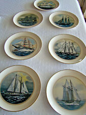 """New Listing8"""" Danbury Mint Tall Sailing Ships Collector plates, Lot of 7"""