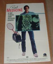 """Vintage 1986 BAD MEDICINE Movie Poster  (18 1/2"""" x 28"""")"""