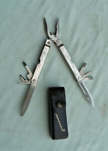 Original Leatherman PST Personal Survival Tool w/Leather Belt Pouch