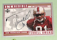 1999 Terrell Owens #TO INKredible Auto Autographed Card READ