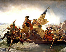 George Washington Crossing the Delaware Large Real Canvas Fine Art Print New