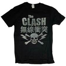 The Clash T Shirt - Japan Skull Hessian Effect 100% Official