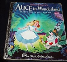 Vtg Little Golden Book Alice in Wonderland Meets White Rabbit 1977 1970s  -EEX