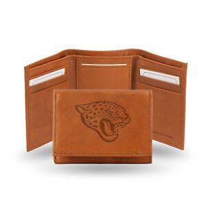 Jacksonville Jaguars NFL Embossed Leather Trifold Wallet ~ New