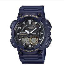 Casio Watch * AEQ110W-2AV Telememo World Time Blue COD PayPal #crazy1212