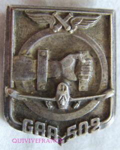 IN14445 - INSIGNE Groupe d'Artillerie de l'Air 502, DIJON, faux N°, (561)