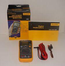 FLUKE 17B+ DIGITAL MULTIMETER W/ TEST LEADS TL75 80BKA NEW