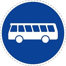 Traffic Signs Buses Road Safety Adhesive Sticker 150mm x 150mm TR105