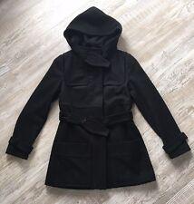 Drykorn Damen Jacke Mantel Parka Dufflecoat Trenchcoat Wolle Schwarz Gr.2  S M f071d3e42e