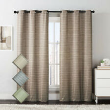 Simple Manor Grommet Room Darkening Curtain Panels (Set of 2)