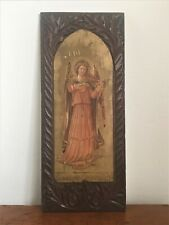Antique Arts & Crafts Home Arts & Industries Association Carved Panel c.1890