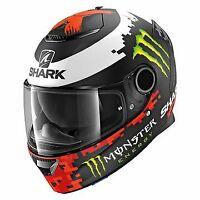 Shark Spartan Lorenzo Replica Motorcycle Matt Black Crash Helmet New