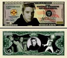 ELVIS PRESLEY LE KING BILLET de COLLECTION 1 MILLION de DOLLAR US ! Rock n Roll