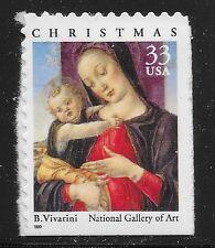 US Scott #3355, Single 1999 Christmas 33c VF MNH