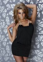 womens Clubbing Mini Dress Halterneck Bodycon Dress Evening Party Club Dress UK