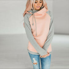 New Women Long Sleeve Hoodie Sweatshirt Sweater Hooded Jumper Coat Pullover Tops