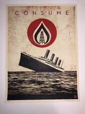 Shepard Fairey Unsinkable Consumption Print Poster OBEY Street Art Graffiti
