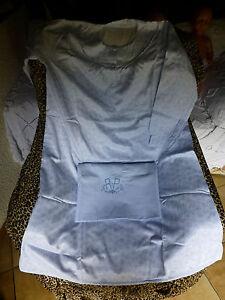 """Chemise  nuit femme  t 3-4  + Housse  traversin ,  bleues avec mono brodé  """"R.P"""""""