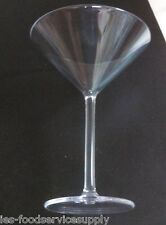 Set of 6 -8 oz Martini Glass Clear Polycarbonate Durable Bar Margarita Cocktail