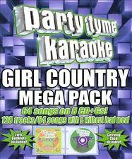 Party Tyme Karaoke - Girl Country Mega Pack by Karaoke (CD, Oct-2010, 8...