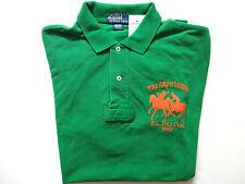 New Ralph Lauren Polo 100% Cotton Dual Pony Grass Green Cotton Shirt M