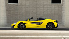 "McLaren 570S Spider 2018 CAR Silk Poster Print - 24x36"""