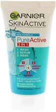 Garnier Pure Active 3-In-1 Scrub 50 ml Ideal For Travel