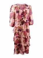 Betsey Johnson Women's Floral-Print Ruffled Dress 6 (638)
