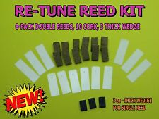 Duck Call Reed Kit - Premium 10 ml Mylar Reeds & Real Cork - Single And Double