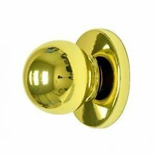 Sturdy Bi-fold Cabinet Door Knob w/ Backplate & Polished Brass Finish (4ct)