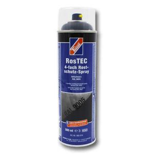 TECHNOLIT RosTEC 4-fach Rostschutz-Spray RAL 9005 tiefschwarz Korrosionsschutz