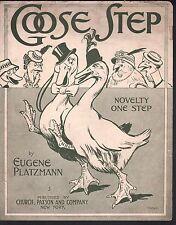Goose Step 1915 Large Format Sheet Music