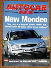New 2000 FORD MONDEO Road Test Brochure - Development, Road Test, Rivals