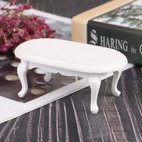 1:12 Dollhouse Miniature Furniture Wooden White Teatable Doll House Decor YK
