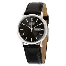 Citizen Men's BM8240-03E Eco-Drive Stainless Steel Black Leather Strap Watch