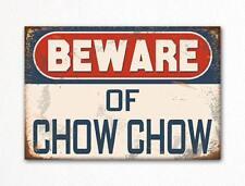Beware of Chow Chow Dog Breed Cute Fridge Magnet
