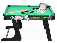 D16 Wooden Kids Toy Home Foldable Billiard Ball Snooker Pool Table Game 64CM