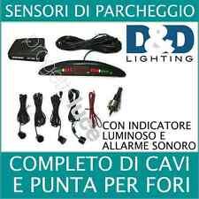 KIT 4 SENSORI DI PARCHEGGIO CON DISPLAY LED+SUONO NERI CON CICALINO ACUSTICO