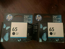 New 2 Pack HP 65 Black Ink Cartridges N9K02AN Expiration 2022