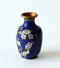 Vaso Antico Metallo Cloisonnè Cinese Oriental Ancient Antique Vase H.10cm
