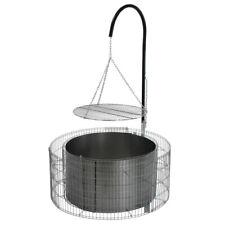 Schwenkgrill Grillstelle inkl. Grillrost Galgen + Ketten Ø 92/72 cm H 40cm