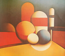 Vintage abstract cubist print