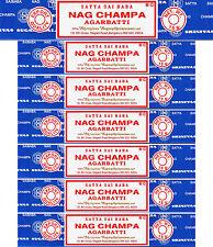 7 Packs X 15 Gram Nag Champa Boxes Original Incense Sticks - 105 Grams Total