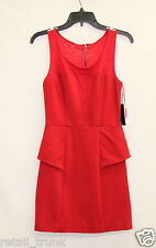 Guess Women's Sleevless Solid Body-Con Dress, Red, M